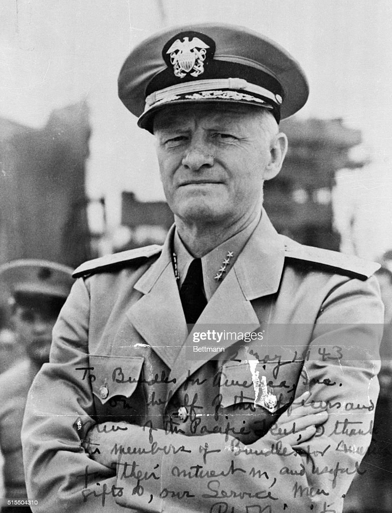Admiral Chester W. Nimitz, Commander in chief of the Pacific Fleet.