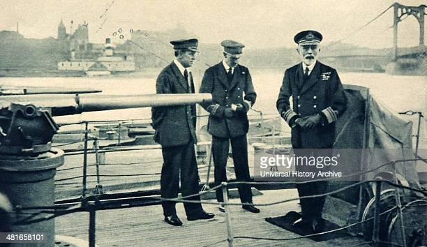 Admiral Fremantle Deputy Chief of Naval Staff visiting the British flotilla at Cologne