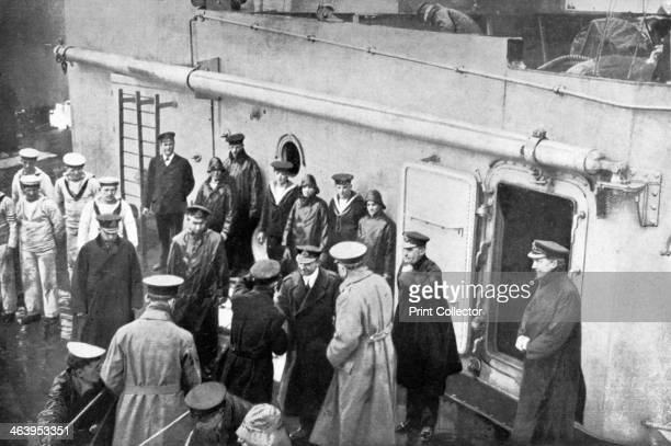 Admiral Jellicoe's farewell to Lord Kitchener First World War 19141916 Illustration from The Illustrated War Record of the Most Notable Episodes in...