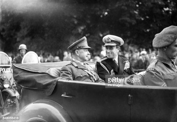 Admiral Lord Louis Mountbatten Supreme Allied Commander South East Asia and Field Marshal Viscount Alexander of Tunis Governor General of Canada...
