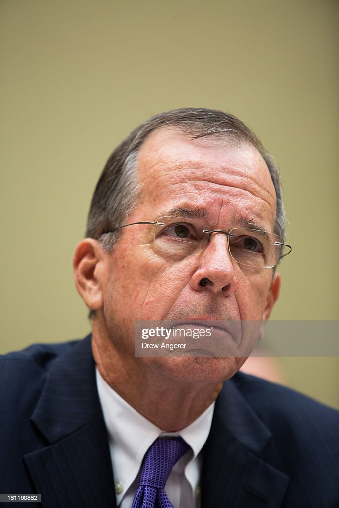 Admiral Mike Mullen, former Chairman of the Joint Chiefs of Staff and current Vice-Chairman of the Benghazi Accountability Review Board, listens during a House Oversight Committee hearing entitled 'Reviews of the Benghazi Attack and Unanswered Questions,' in the Rayburn House Office Building on Capitol Hill, September 19, 2013 in Washington, DC. Committee Chairman Darrell Issa (R-CA) is continuing to lead the GOP investigation of the Sept. 11, 2012, assaults that killed U.S. Ambassador J. Christopher Stevens and three other Americans at the U.S. Consulate in Benghazi, Libya.