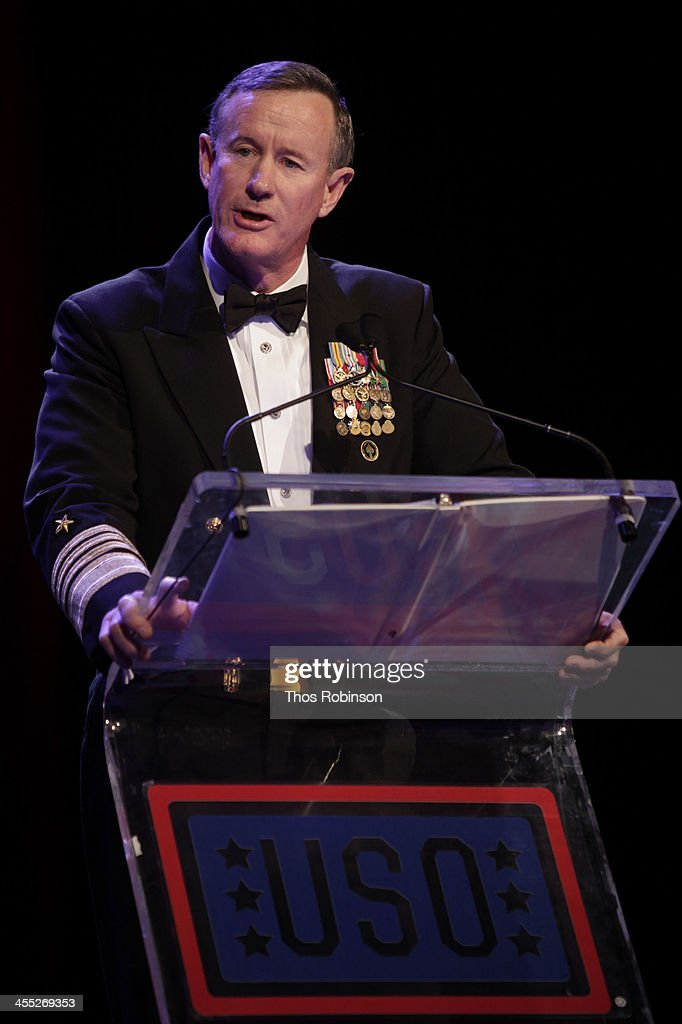 Admiral William H. McRaven attends 52nd USO Armed Forces Gala & Gold Medal Dinner at Marriott Marquis Times Square on December 11, 2013 in New York City.