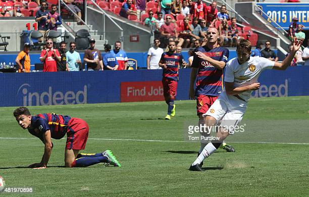 Adnan Januzaj of Manchester United scores their third goal during the International Champions Cup 2015 match between Manchester United and Barcelona...