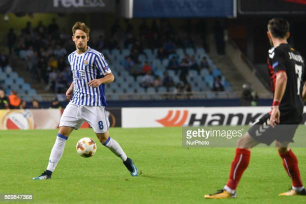 Adnan Januzaj of Real Sociedad during the UEFA Europa League Group L football match between Real Sociedad and FK Vardar at the Anoeta Stadium on 2...