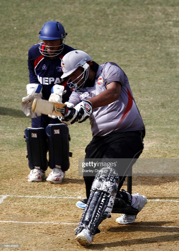 Adnan Kamil Khan of UAE bats during the ACC U-19 Elite Cup Semi Final against Nepal at the Bayuemas Cricket Ground on May 10, 2013 in Kuala Lumpur, Malaysia.