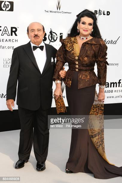 Adnan Khashoggi and his wife arrive for the amfAR Gala during the 61st Cannes Film Festival in Cannes France