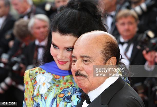 Adnan Khashoggi and his wife arrive for the screening of 'Indiana Jones and the Kingdom of the Crystal Skull' during the 61st Cannes Film Festival in...
