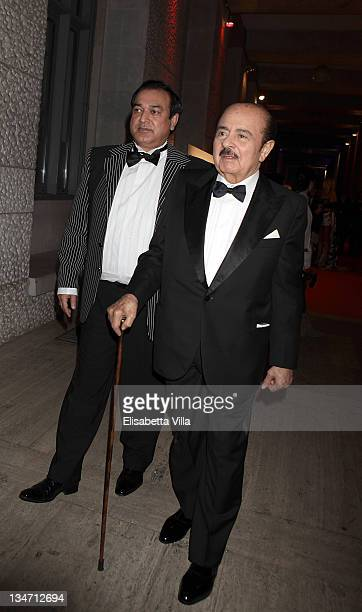 Adnan Khashoggi and Rehan Syed attend 'The Children For Peace' Rome Annual Gala Event at Spazio Novecento on December 3 2011 in Rome Italy