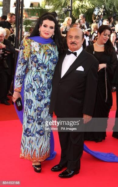Adnan Khashoggi and wife arrive for the screening of 'Indiana Jones and the Kingdom of the Crystal Skull' during the 61st Cannes Film Festival in...