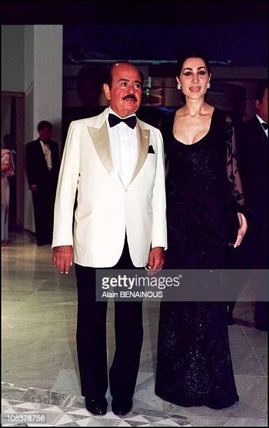 Adnan Khashoggi and wife in Monaco on August 04 2000