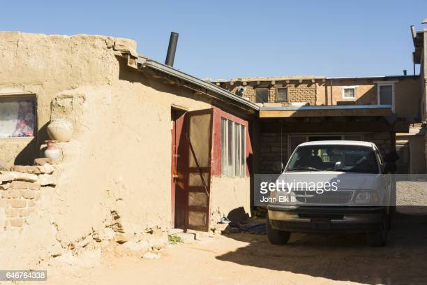 Acoma pueblo stock photos and pictures getty images - Pueblo adobe houses property ...
