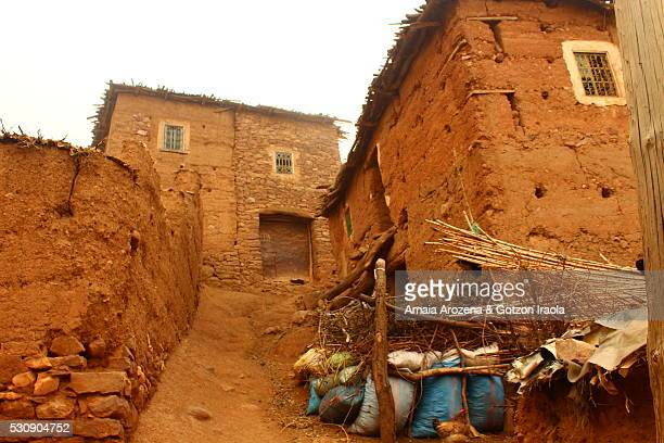 Adobe house in a berber village of the High Atlas