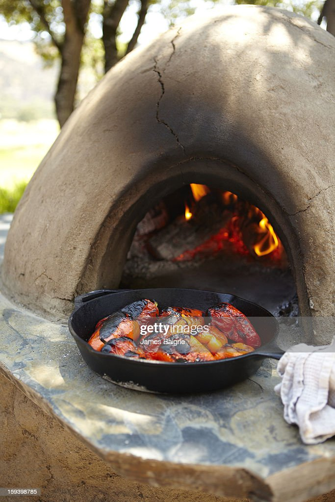 Adobe Roasted Bell Peppers : Stock Photo