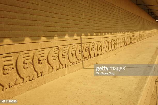 Adobe Wall Relief in Chan Chan, Peru