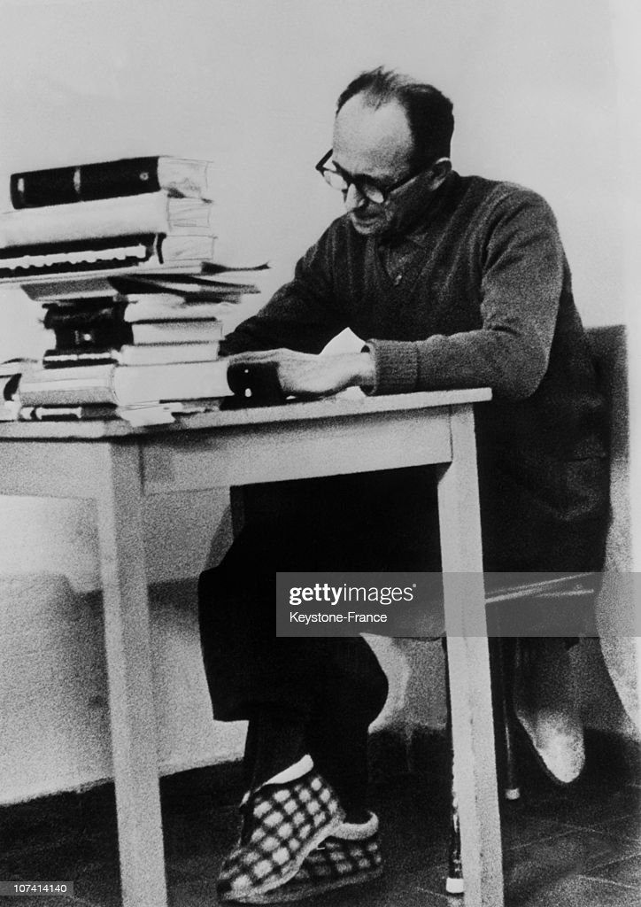 <a gi-track='captionPersonalityLinkClicked' href=/galleries/search?phrase=Adolf+Eichmann&family=editorial&specificpeople=930616 ng-click='$event.stopPropagation()'>Adolf Eichmann</a> In His Cell On April 11Th 1961 In Jerusalem.