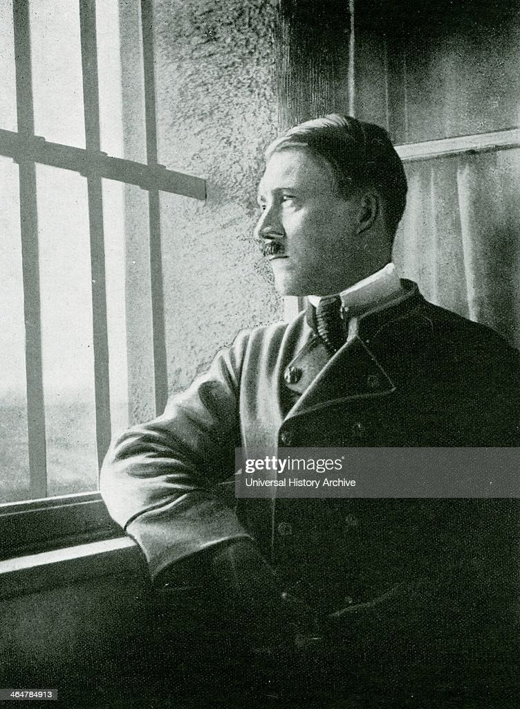Adolf Hitler a political prisoner in the Fortress of Landsberg after the failure of the Munich Beer Hall Putrsch of November 1923