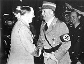 Adolf Hitler and Ernst Rhm shortly before the 'Night of the Long Knives' June 30 1934