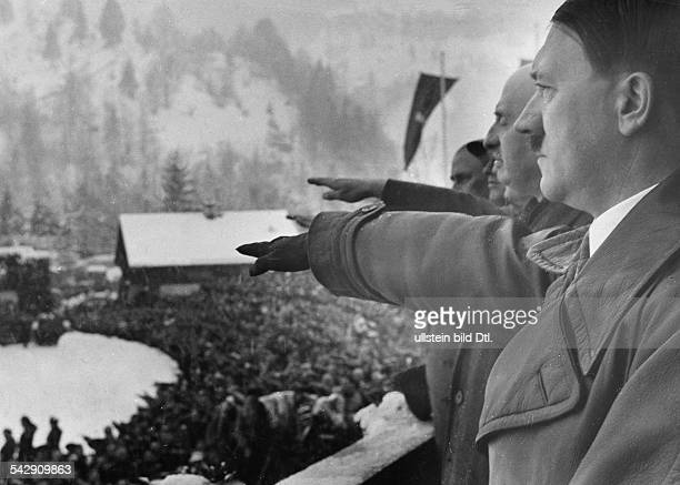 Adolf Hitler and Henri de BailletLatour President of the IOC during opening of the Olympic Games 1936 in GarmischPartenkirchen Published by 'Die...
