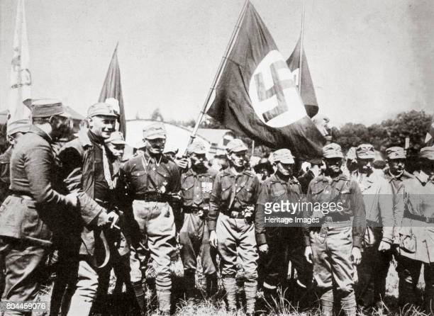 Adolf Hitler and members of the SA at the Weimar rallies Germany 3rd4th July 1926 To the right behind Hitler is the District Leader of the Ruhr and...