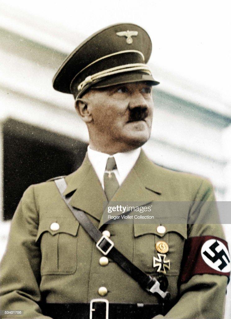 Adolf Hitler German statesman Colourized photo