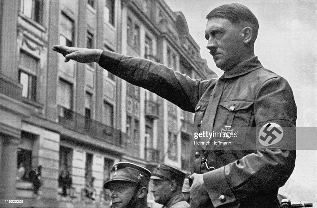 Adolf Hitler (1889 - 1945) in Munich in the spring of 1932.