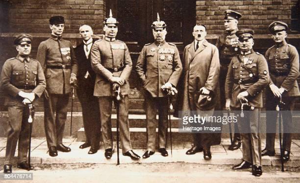 Adolf Hitler standing next to General Erich Ludendorff Germany 11 November 1921 Adolf Hitler with Erich Friedrich Wilhelm Ludendorff one of Germany's...
