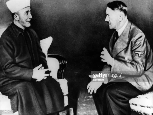 Adolf Hitler talking to Grand Mufti Haj Amin el Husseini