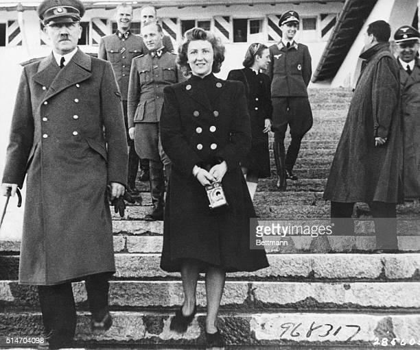 Adolf Hitler with Eva Braun Undated Photo