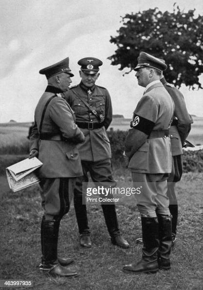 Adolf Hitler with senior German army officers Munster training area Germany 1935 Hitler with officers including Werner von Blomberg CommanderinChief...