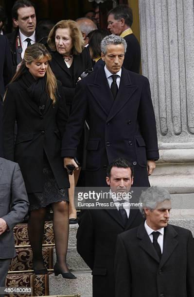 Adolfo Suarez Illana and Javier Suarez attend the military parade with Adolfo Suarez coffin at Carrera de San Jeronimo on March 25 2014 in Madrid...