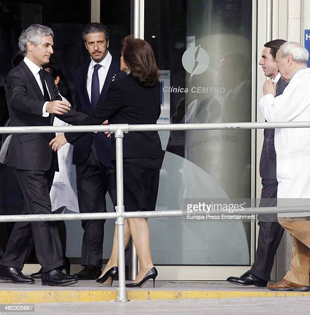 Adolfo Suarez's son Adolfo Suarez Illana receives Ana Botella after the death of Adolfo Suarez the man who led Spain to its transition to democracy...