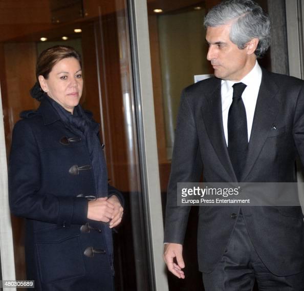 Adolfo Suarez's son Adolfo Suarez Illana receives Dolores de Cospedal after the death of Adolfo Suarez the man who led Spain to its transition to...