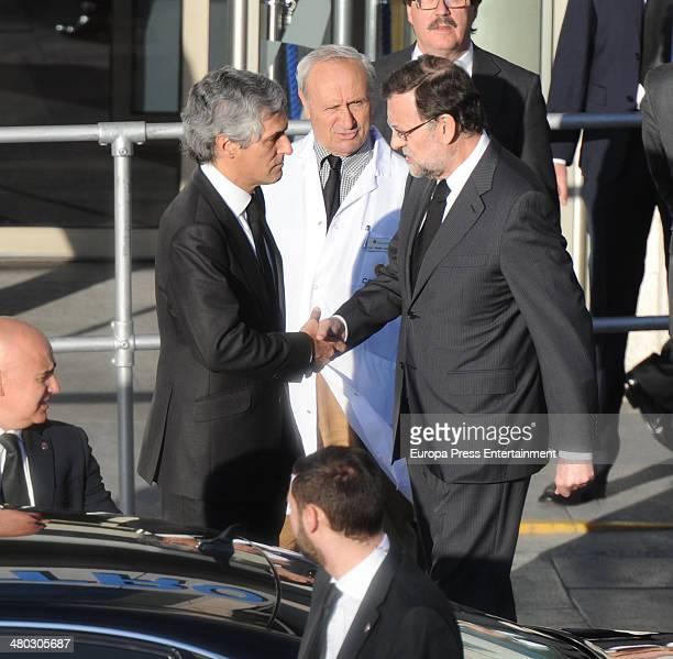 Adolfo Suarez's son Adolfo Suarez Illana receives Mariano Rajoy after the death of Adolfo Suarez the man who led Spain to its transition to democracy...