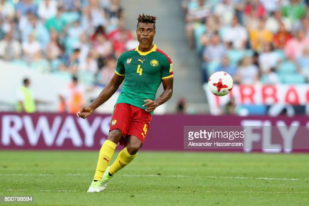Adolphe Teikeu of Cameroon runs with the ball during the FIFA Confederations Cup Russia 2017 Group B match between Germany and Cameroon at Fisht...