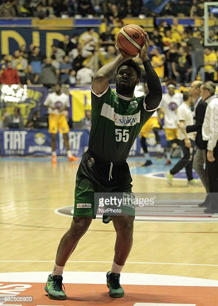 Adonis Thomas during Italy Lega Basket of Serie A match between Fiat Torino v Sidigas Avellino in Turin on january 22 2017