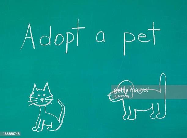 Adopt a Pet Chalk Drawing