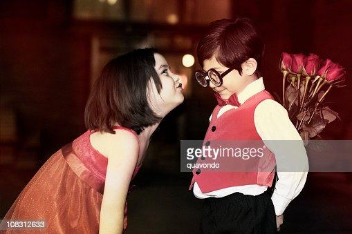 Kiss girl shy little