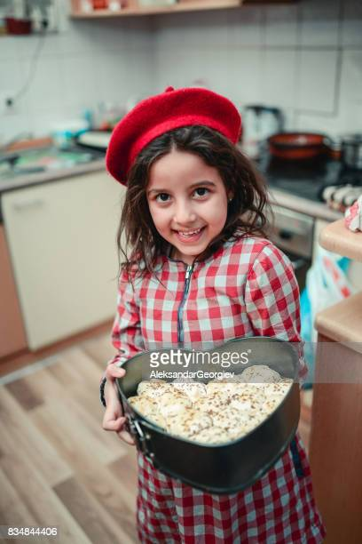 Adorable Little Girl Offers you with Homemade Cookies