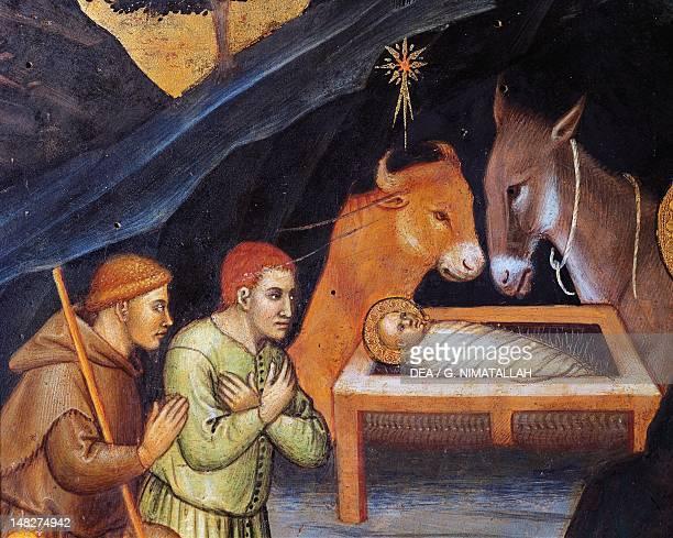 Adoration of the Magi by Taddeo di Bartolo tempera on panel 38x57 cm Detail Siena Pinacoteca Nazionale Buonsignori Palace
