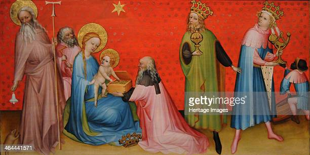 Adoration of the Magi with Saint Anthony Abbot ca 1400 Found in the collection of the J Paul Getty Museum Los Angeles