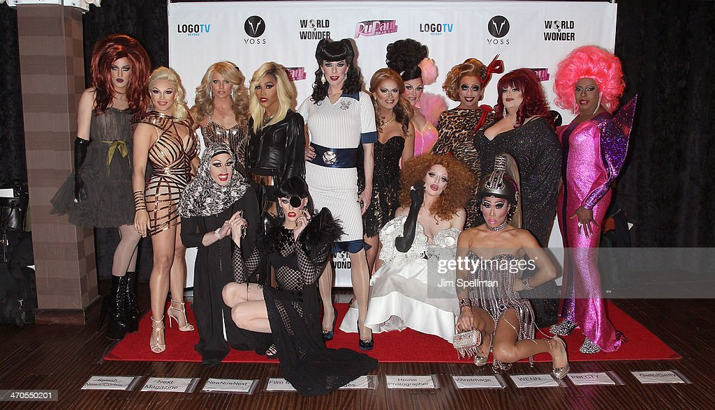 Adore Delano, April Carrion, <a gi-track='captionPersonalityLinkClicked' href=/galleries/search?phrase=Magnolia+Crawford&family=editorial&specificpeople=12482528 ng-click='$event.stopPropagation()'>Magnolia Crawford</a>, <a gi-track='captionPersonalityLinkClicked' href=/galleries/search?phrase=Courtney+Act&family=editorial&specificpeople=211399 ng-click='$event.stopPropagation()'>Courtney Act</a>, <a gi-track='captionPersonalityLinkClicked' href=/galleries/search?phrase=Trinity+K.+Bonet&family=editorial&specificpeople=12482532 ng-click='$event.stopPropagation()'>Trinity K. Bonet</a>, <a gi-track='captionPersonalityLinkClicked' href=/galleries/search?phrase=Laganja+Estranja&family=editorial&specificpeople=11246590 ng-click='$event.stopPropagation()'>Laganja Estranja</a>, <a gi-track='captionPersonalityLinkClicked' href=/galleries/search?phrase=Kelly+Mantle&family=editorial&specificpeople=4204270 ng-click='$event.stopPropagation()'>Kelly Mantle</a>, <a gi-track='captionPersonalityLinkClicked' href=/galleries/search?phrase=Joslyn+Fox&family=editorial&specificpeople=12482530 ng-click='$event.stopPropagation()'>Joslyn Fox</a>, Ben Delacreme, Milk, <a gi-track='captionPersonalityLinkClicked' href=/galleries/search?phrase=Bianca+Del+Rio&family=editorial&specificpeople=5601491 ng-click='$event.stopPropagation()'>Bianca Del Rio</a>, <a gi-track='captionPersonalityLinkClicked' href=/galleries/search?phrase=Gia+Gunn&family=editorial&specificpeople=12482518 ng-click='$event.stopPropagation()'>Gia Gunn</a>, <a gi-track='captionPersonalityLinkClicked' href=/galleries/search?phrase=Darienne+Lake&family=editorial&specificpeople=12482522 ng-click='$event.stopPropagation()'>Darienne Lake</a> and Vivacious attend 'RuPaul's Drag Race' Season 6 Premiere Party at Stage 48 on February 19, 2014 in New York City.