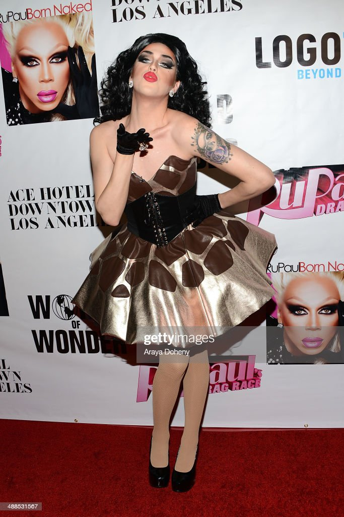 Adore Delano attends Logo TV's 'RuPaul's Drag Race' season 6 reunion taping at The Theatre at Ace Hotel Downtown LA on May 6, 2014 in Los Angeles, California.
