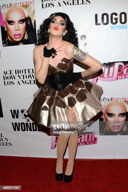 Adore Delano attends Logo TV's 'RuPaul's Drag Race' season 6 reunion taping at The Theatre at Ace Hotel Downtown LA on May 6 2014 in Los Angeles...