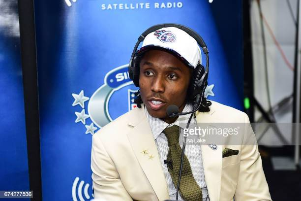 Adoree Jackson of USC visits the SiriusXM NFL Radio talkshow after being picked overall by the Tennessee Titans during the first round of 2017 NFL...