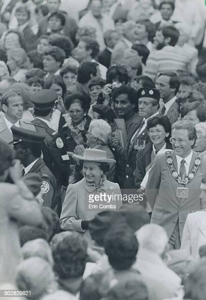 Adoring crowds The Queen took a traditional walkabout among admires at Nathan Philips Square yesterday after she told the 4000strong gathering that...