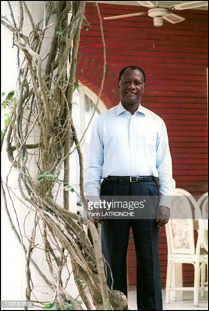 Ouattara leader RDR at home in Abidjan Cote d'Ivoire on September 21 2000