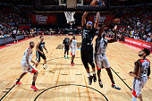 Adreian Payne of the Minnesota Timberwolves goes up for a dunk against the Chicago Bulls during the 2016 NBA Las Vegas Summer League game on July 18...