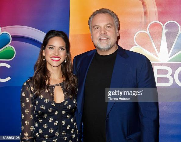 Adria Arjona and Vincent D'Onofrio attend the photo call for NBC's new series 'Emerald City' at Universal Studios Backlot on December 9 2016 in...