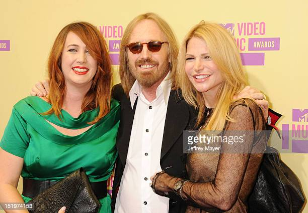 Adria Petty Tom Petty and Dana York arrive at the 2012 MTV Video Music Awards at Staples Center on September 6 2012 in Los Angeles California