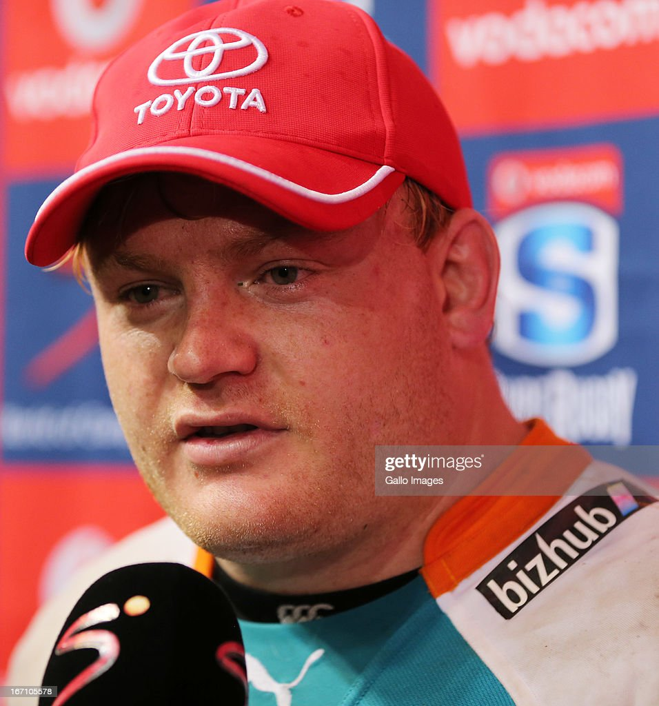Adriaan Strauss (captain) during the Super Rugby match between The Sharks and Toyota Cheetahs from Kings Park on April 20, 2013 in Durban, South Africa.